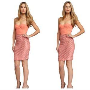 ALICE + OLIVIA Silk Strapless Mini Dress